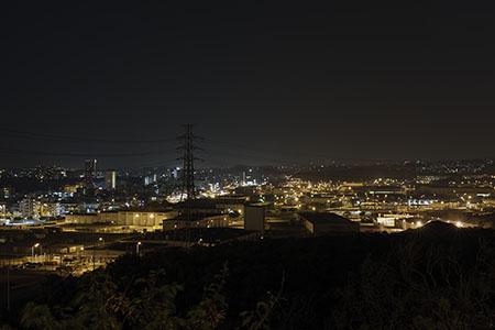 キャンプフォスター前の夜景