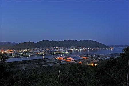 筆影山の夜景
