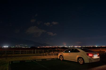 富士川水辺公園の夜景