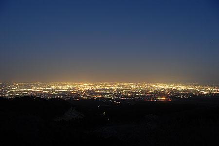 富士見峠の夜景