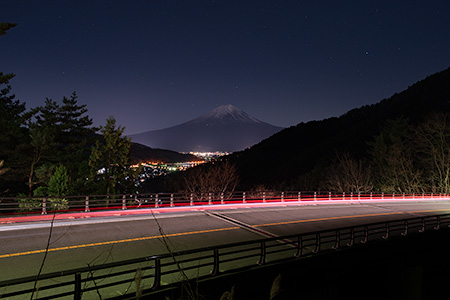 富士見橋展望台の夜景