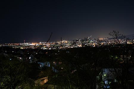 富士見台 第4号緑地の夜景