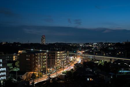 富士山神社の夜景