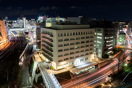 藤沢市役所本庁舎 展望デッキの夜景