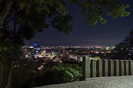 足羽山 藤島神社の夜景