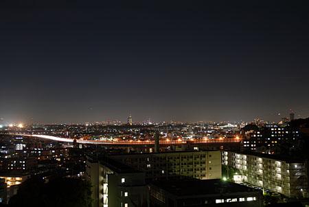 ふじやま遺跡公園の夜景