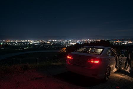 深谷霊園の夜景