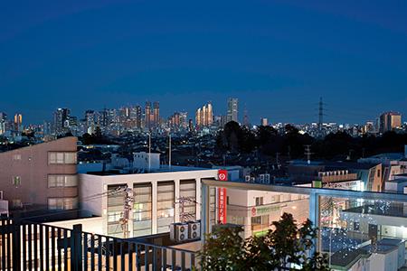 屋上庭園 ふくにわの夜景