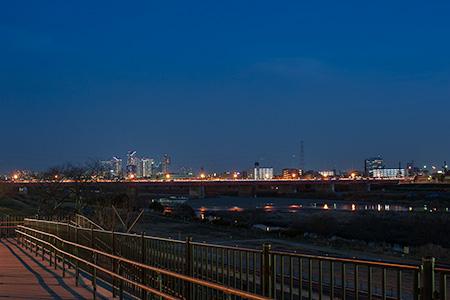 二子玉川公園の夜景