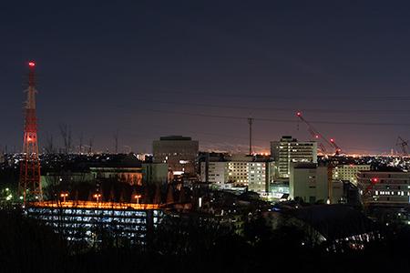 二村山展望台の夜景