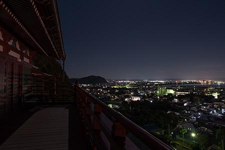 崖観音の夜景