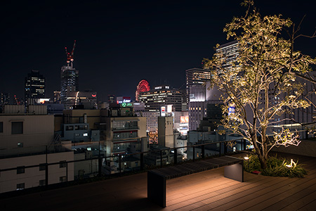 グランフロント大阪 北館7階デッキ