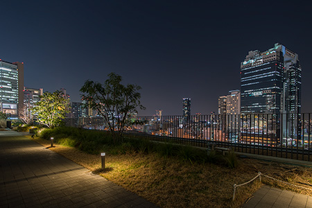 グランフロント大阪 北館テラスガーデンの夜景