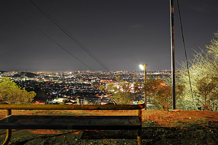 巨人への道の夜景