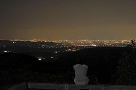 銀河の里キゴ山駐車場の夜景
