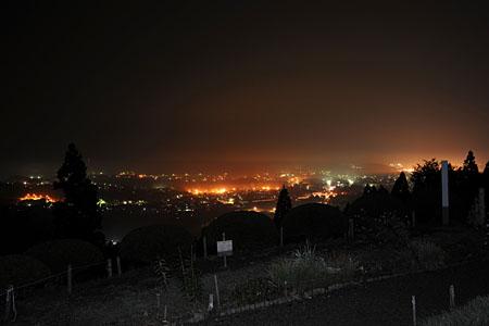 五城目城の夜景