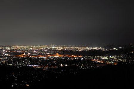 弘法山公園 権現山の夜景