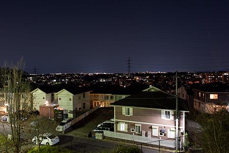 五力田見晴らし公園の夜景