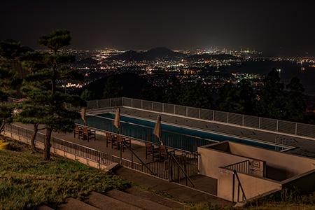 五色台の夜景