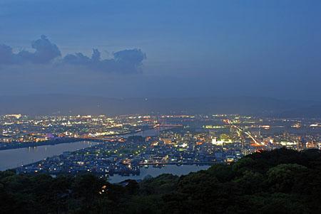 五台山公園の夜景