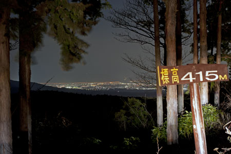 御所ノ入駐車場 箱根ターンパイクの夜景