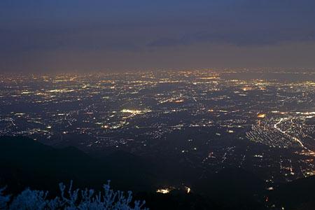 御在所山上公園の夜景