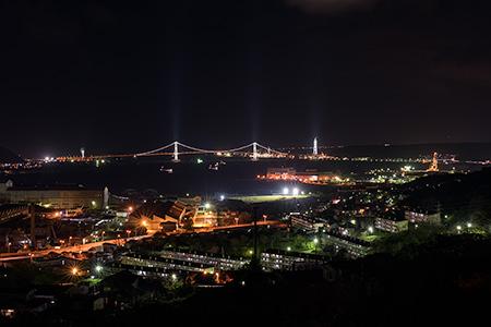 御前水町・室蘭観光道路の夜景