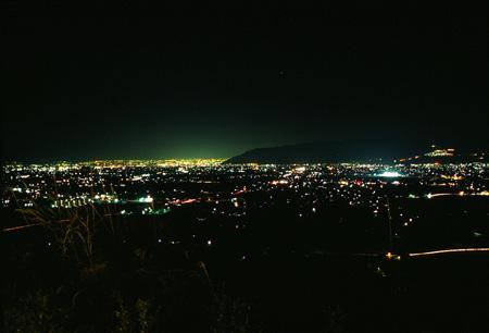 ぶどうの丘の夜景