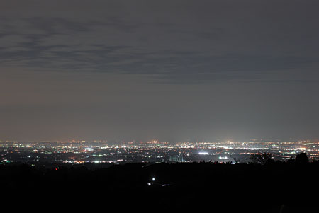 ぐりーんふらわー牧場・大胡の夜景