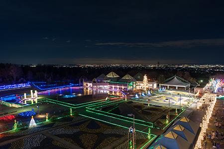 ぐんまフラワーパークの夜景