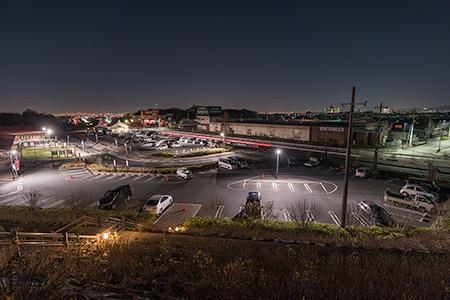 道の駅 しらとりの郷・羽曳野の夜景