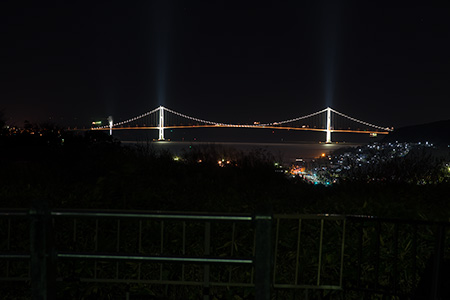 八丁平展望広場の夜景