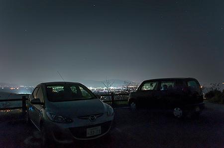 鉢巻山の夜景