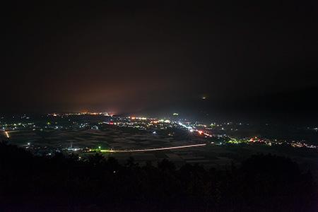 八幡丘展望台の夜景