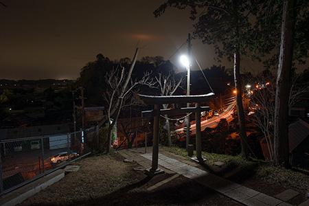八幡宮神社の夜景