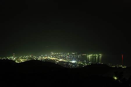 コバルトライン 萩の平展望台の夜景