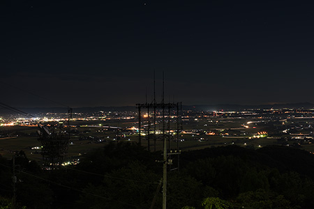 羽黒山の夜景