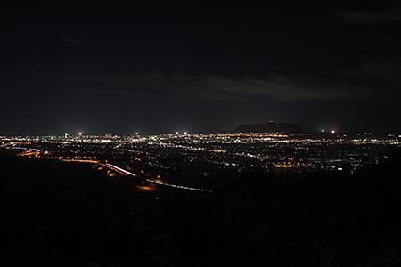 函館新道付近の夜景