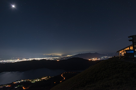 箱根駒ヶ岳ロープウエイの夜景