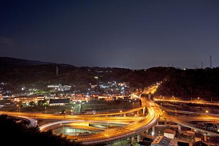 歩道橋 マツダ ターンパイク箱根の夜景