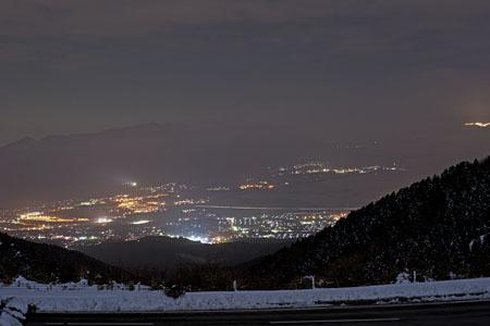 箱根スカイライン 箱根・芦ノ湖展望公園の夜景
