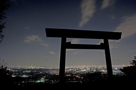 白山神社の夜景