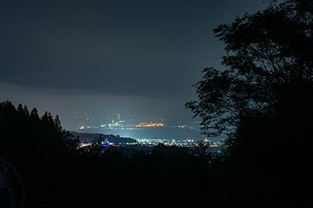 白山城跡展望所の夜景