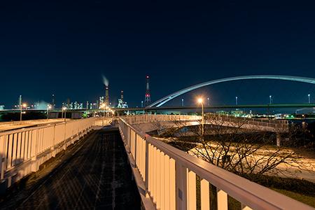 浜寺大橋東詰の夜景