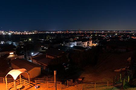 波崎灯台跡公園の夜景