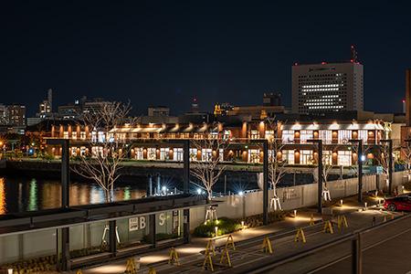 横浜ハンマーヘッドの夜景