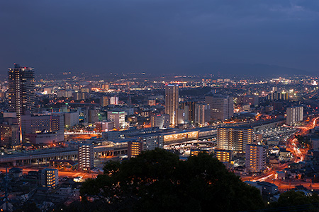 花岡山の夜景