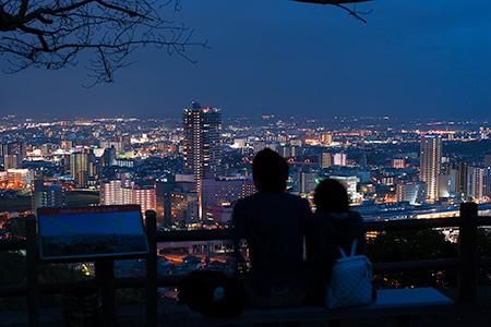 夜景100選「花岡山」