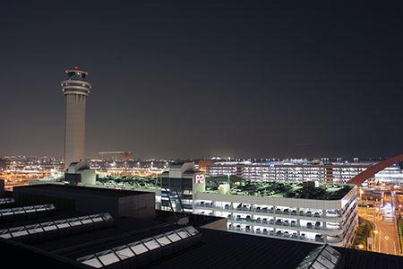 羽田空港 第1旅客ターミナル 展望デッキの夜景