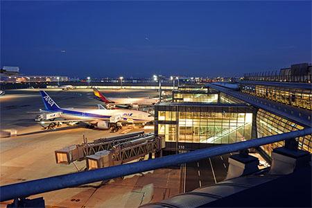 羽田空港 国際線ターミナル 展望デッキの夜景